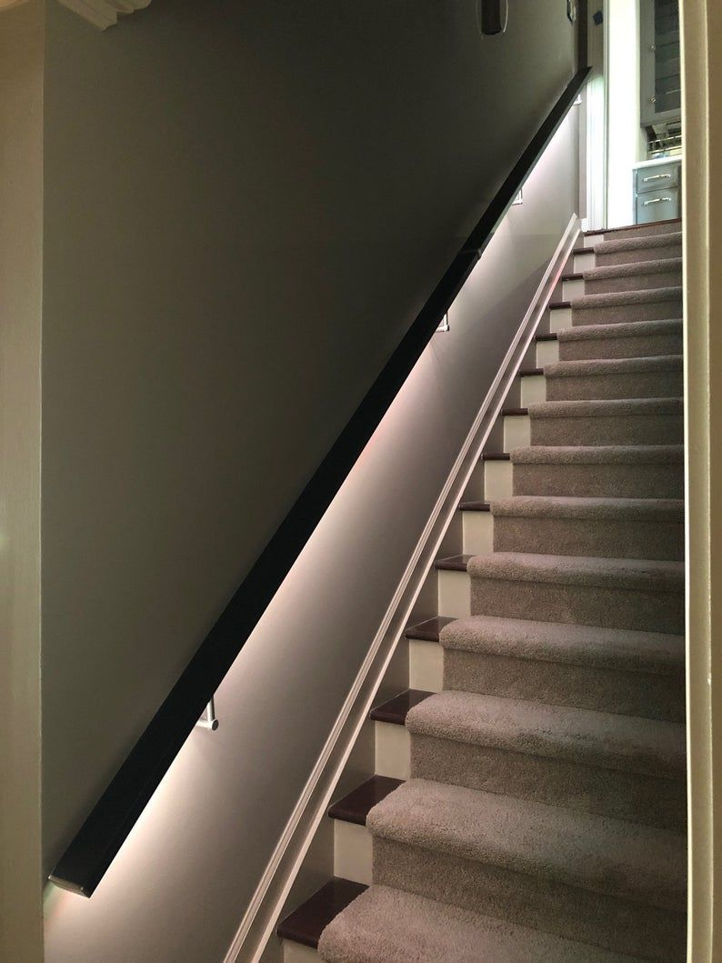 Best Led Square Flat Wall Mount Modern Stair Hand Rail 400 x 300