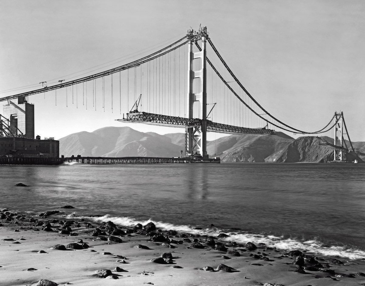 Pictures Of The Golden Gate Bridge Being Built