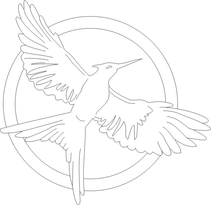 Pin by Dana Wittl on Costumes/holiday/party stuff ... |Hunger Games Mockingjay Pin Outline