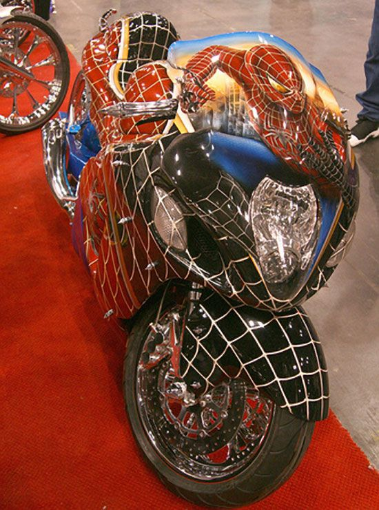 Spider Man Custom Design Low Storage Rates And Great Move In Specials Look No Further Everest Self Storage Is The Harley Bikes Custom Sport Bikes Super Bikes