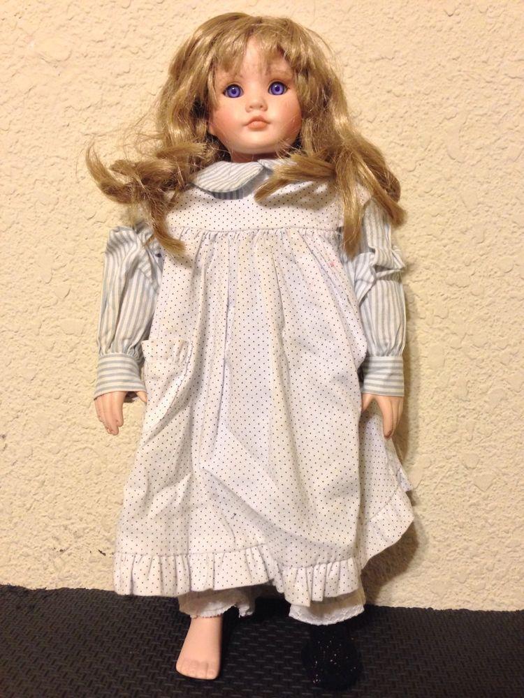 Vintage 15 Blonde Freckle Bisque Porcelain Doll Das Puppen Kunst