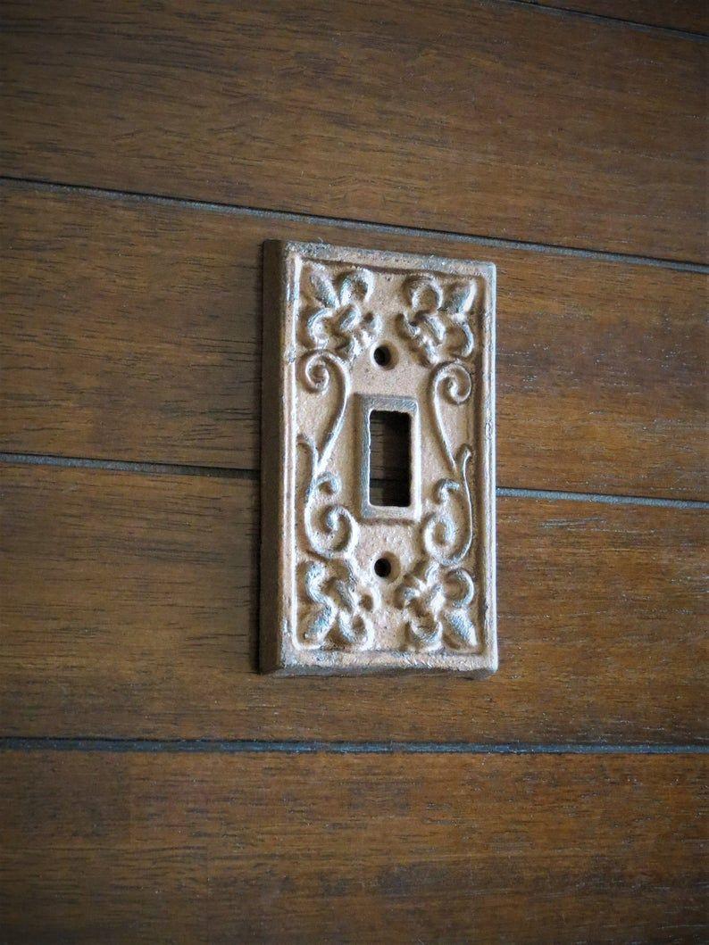 Light Switch Cover / Farmhouse Decor / Cast Iron Metal