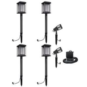 Malibu Lighting 8418290606 Landscape Low Voltage Led Prominence Path Amp Spot Light Kit Gun Metal Gray 6 Pack See This Great Product