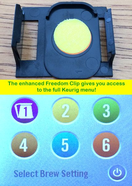 Freedom Clever Clip for Keurig 2.0 Coffee Makers,Brew any Pod or K Cups