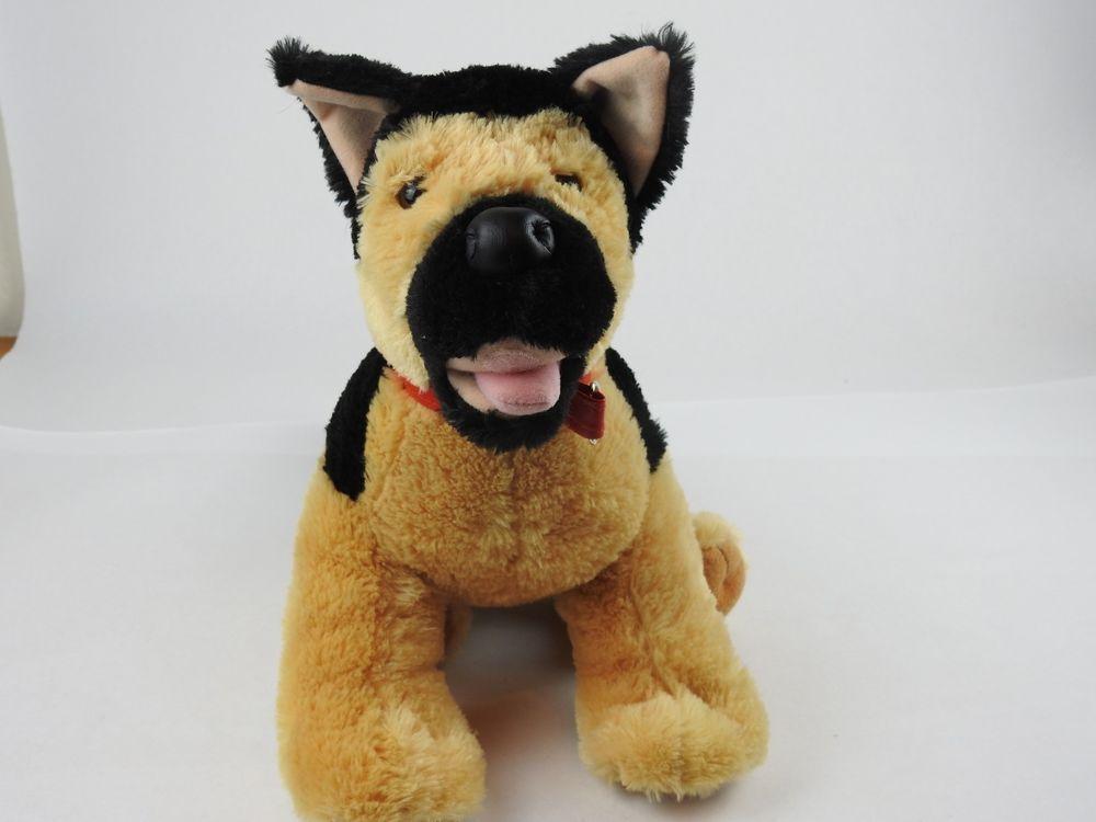 Build A Bear German Shepard Dog Stuffed Animal Plush Toy Tan Black