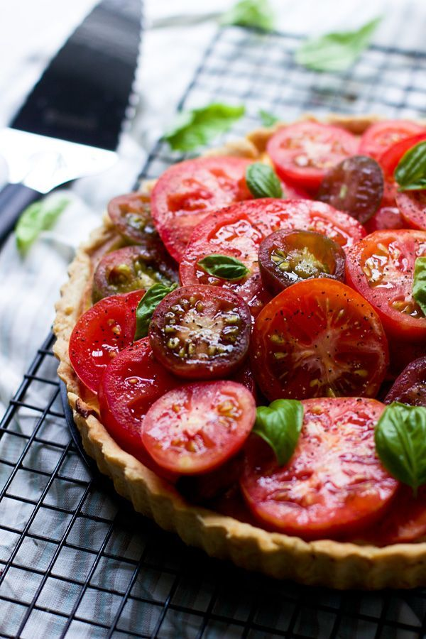 Ricotta and Heirloom Tomato Tart - Cooking for Keeps