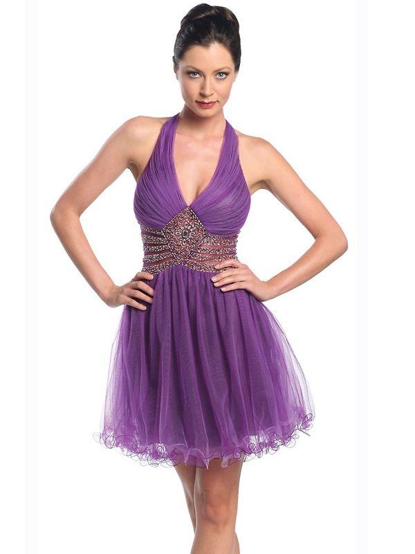 vestido purpura corto. Invitada de boda. | vestidos | Pinterest ...
