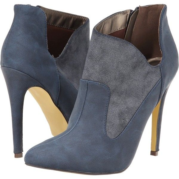 Michael Antonio June Women's Boots, Blue ($36) ❤ liked on Polyvore featuring shoes, boots, blue, side zip boots, michael antonio boots, pointy toe ankle boots, bootie boots and pointed toe ankle boots