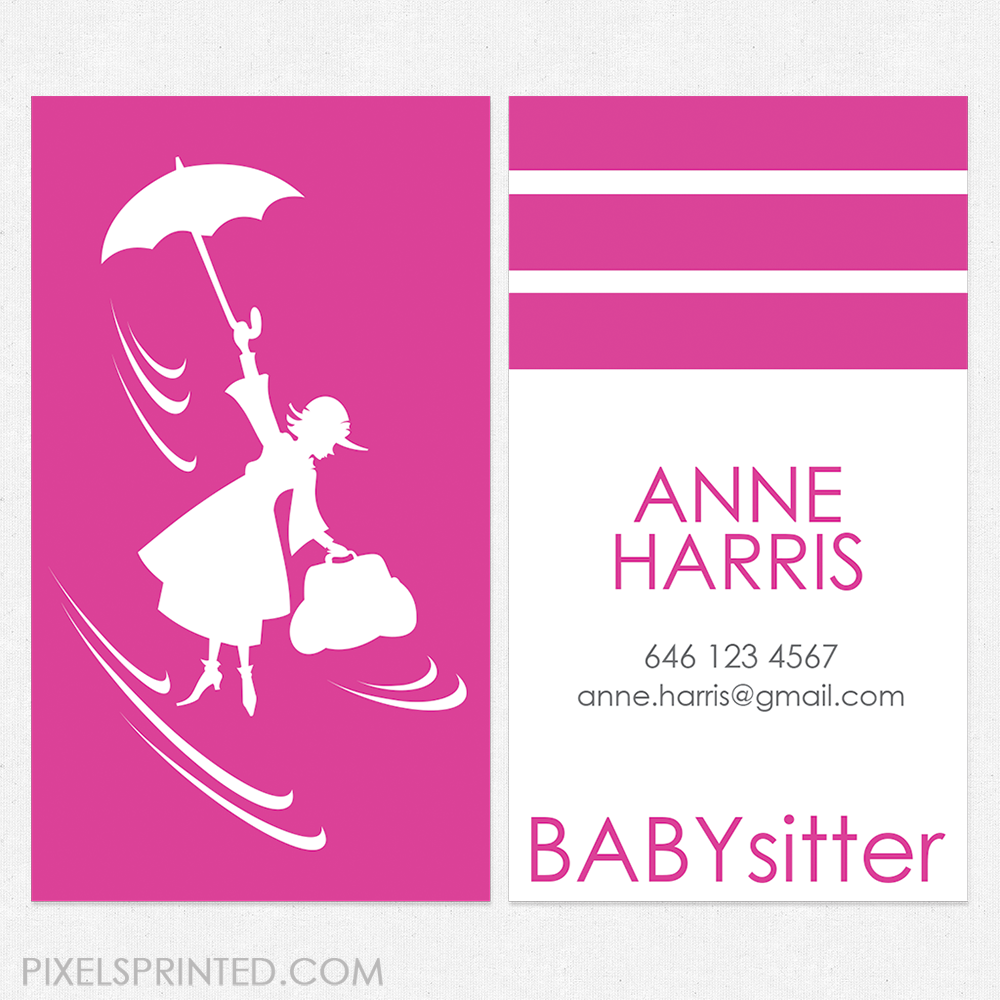 Creative Nanny Business Cards Image collections - Card Design And ...