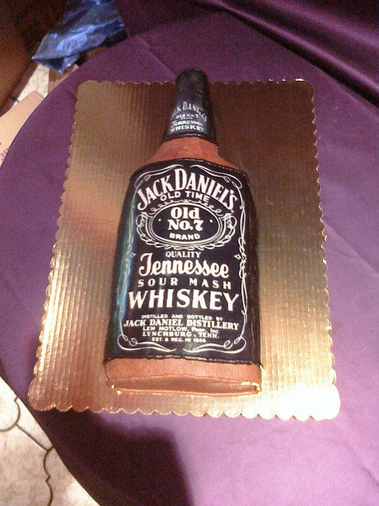 Jack Daniels Cake For 40th Birthday Theme Alcohol Theme