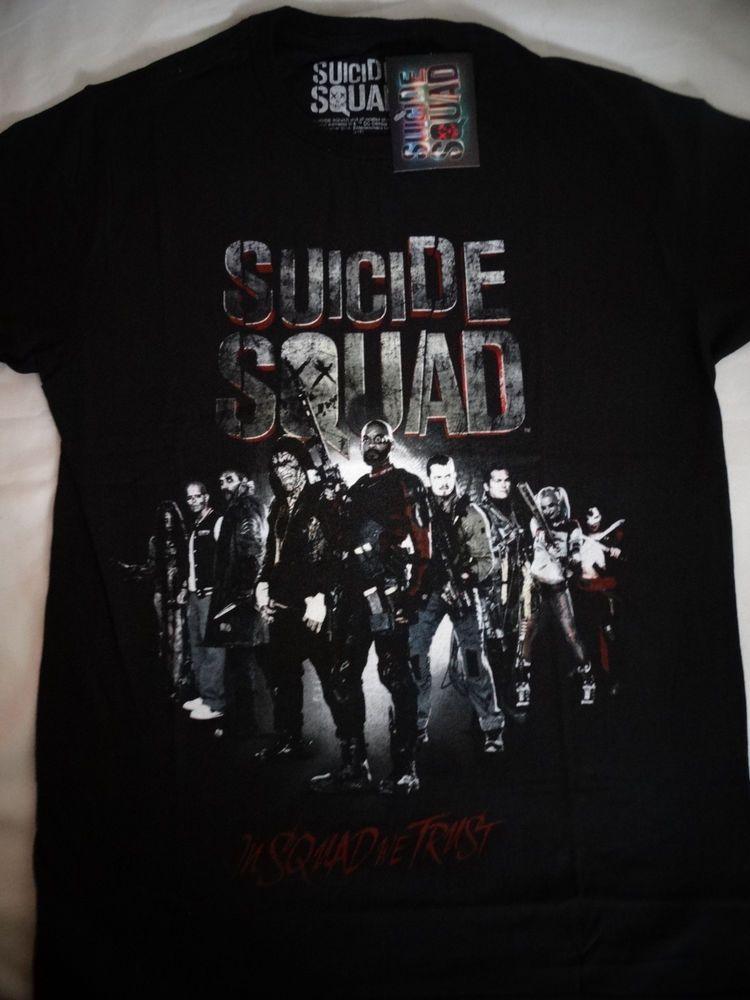 Suicide Squad Trust Group Harley Joker Deadshot Killer Croc Dc Comics Shirt Nwt #SuicideSquad #GraphicTee