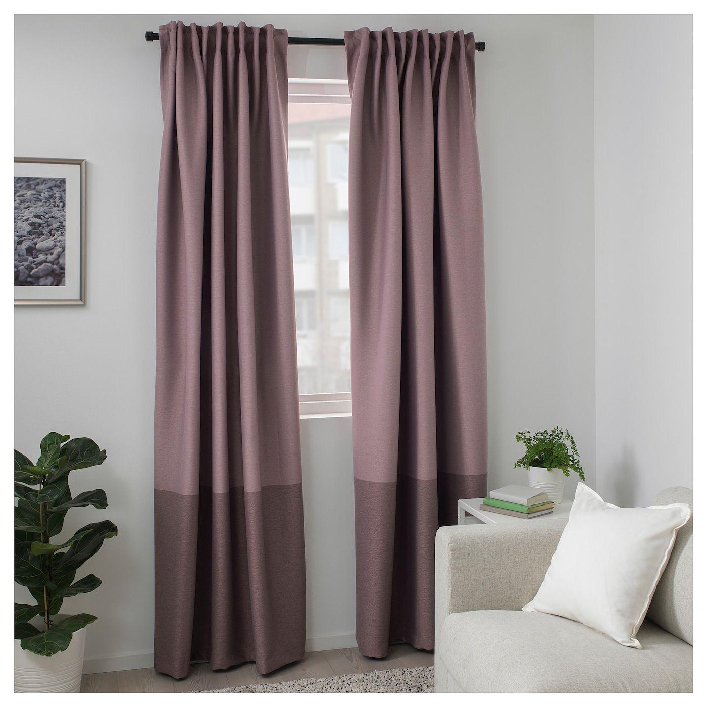 Marjun Room Darkening Curtains 1 Pair Lilac 57x98 145x250 Cm