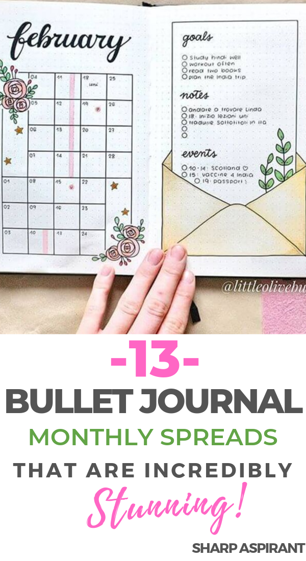 Bullet Journal Monthly Spread Ideas That Are Incredibly Stunning
