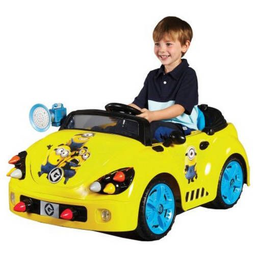 Electric Ride On Car Minions 6 Volt Battery Operated Boy Girls Kids