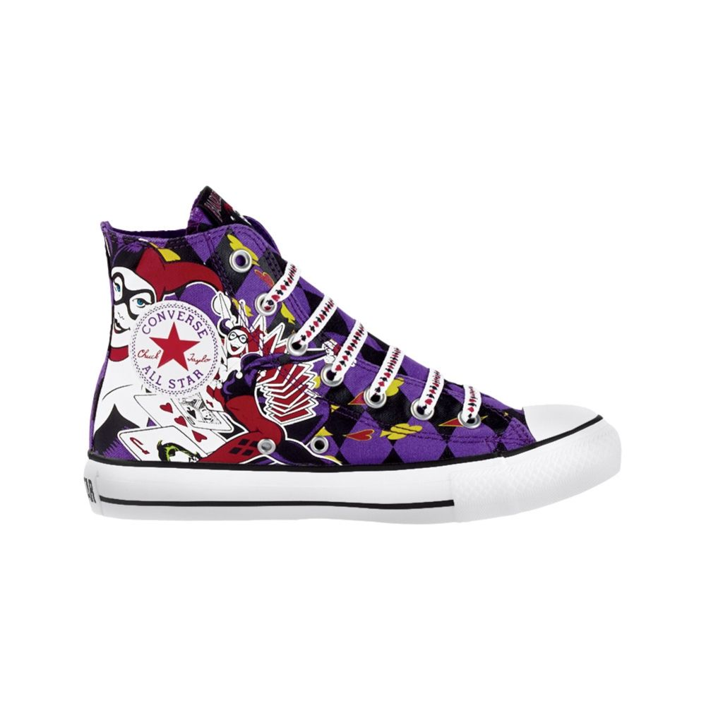 1ba029c251e6 Harley Quinn  59.99. Converse All Star Hi Harley Quinn Athletic Shoe -  Purple Converse Dc Comics ...