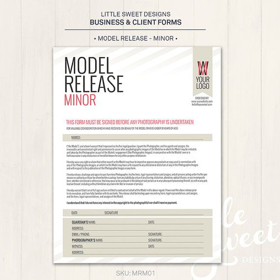 Photography Model Release Form Minor by LittleSweetDesigns | Show ...