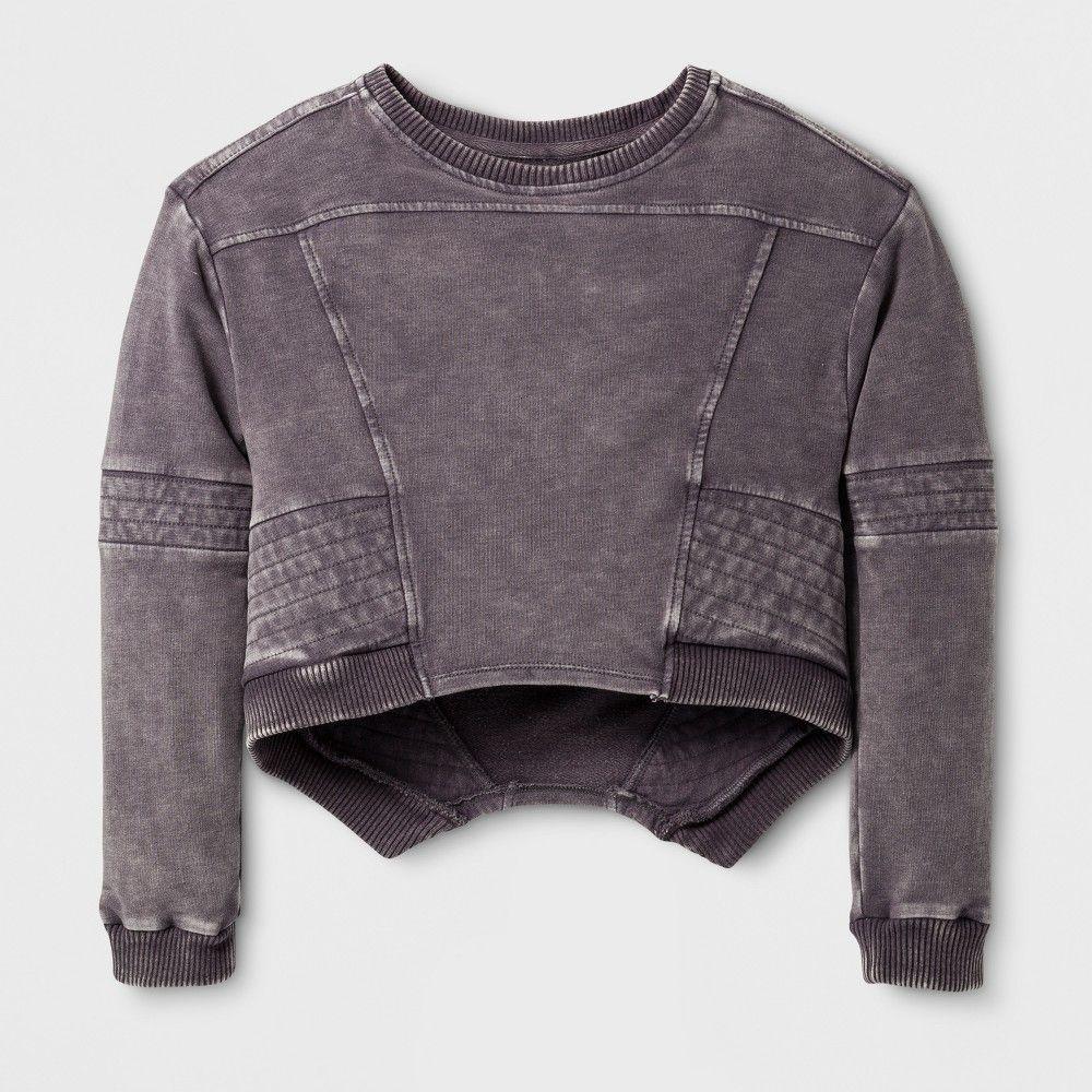 3b88882f2207 Girls  Moto Pullover - Art Class Gray XS