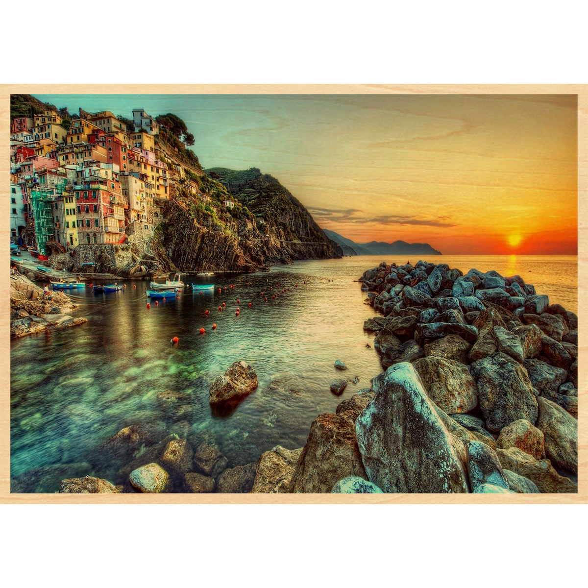Coast Of Italy Color Wood Postcard Italy Landscape Landscape Wallpaper Nature Beach