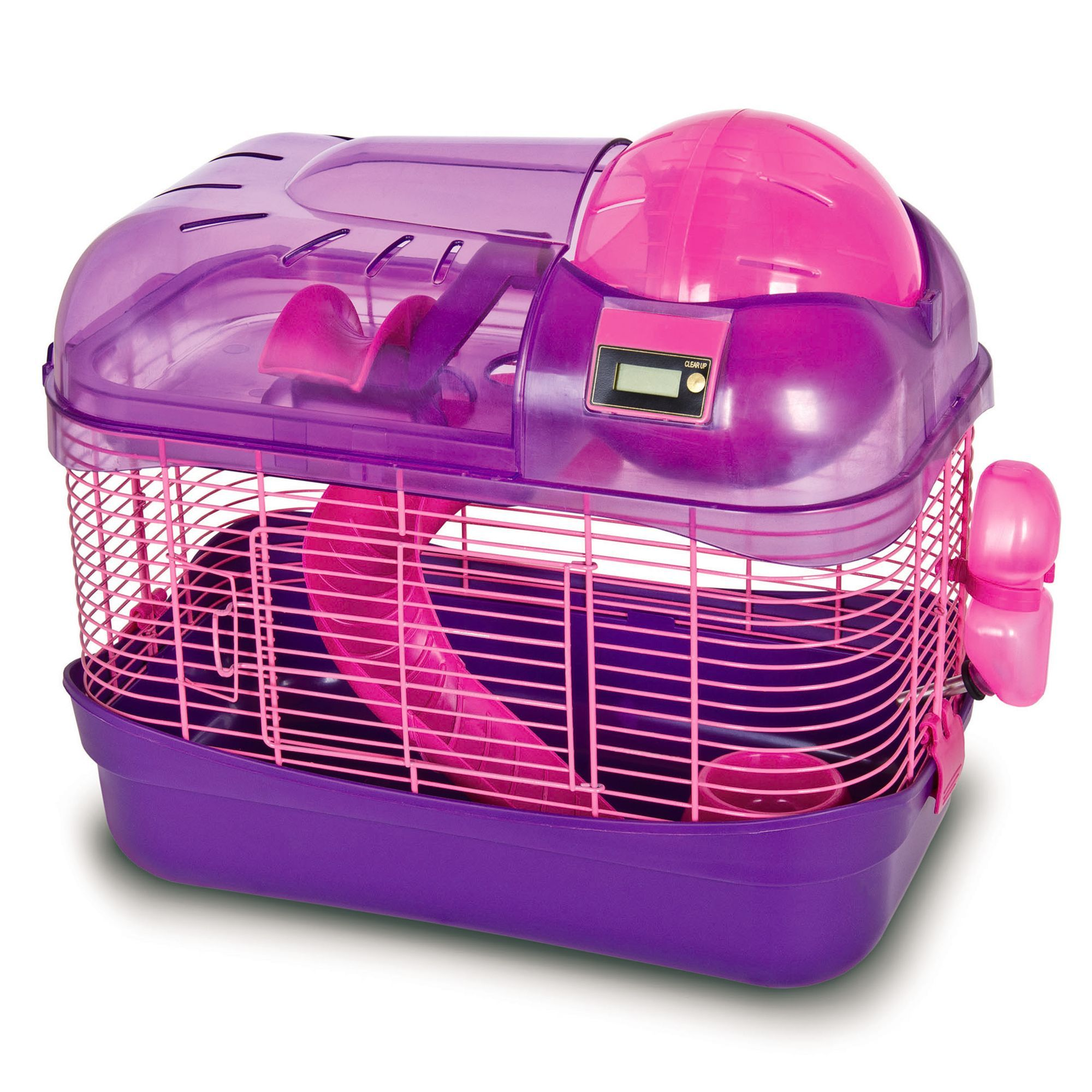 WARE Spin City Health Club Small Pet Habitat, Purple Pet