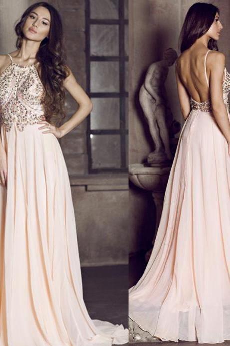 Beaded Backless Dress