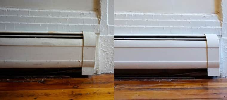 Step By Step How To Paint Metal Baseboard Heater Covers House If I Ever Get One Baseboard Heater Covers Baseboard Radiator Baseboard Heating