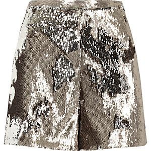 High Waisted Sequined Shorts from River Island R700,00