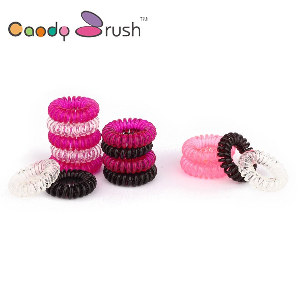 Women Hair Band Telephone Wire Style Elastic Band Hair Ties Hair ...