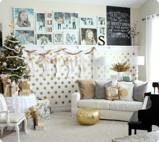 Elegant Modern, Whimsical, Gold Christmas Decor   Our Holiday Home Tour