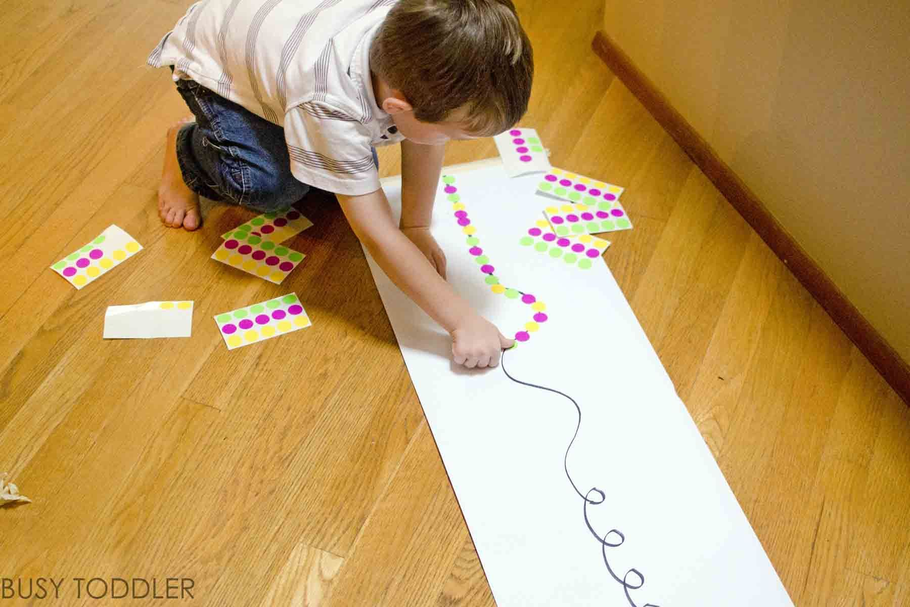 STICKER LINE UP A super simple activity for toddlers to play ...