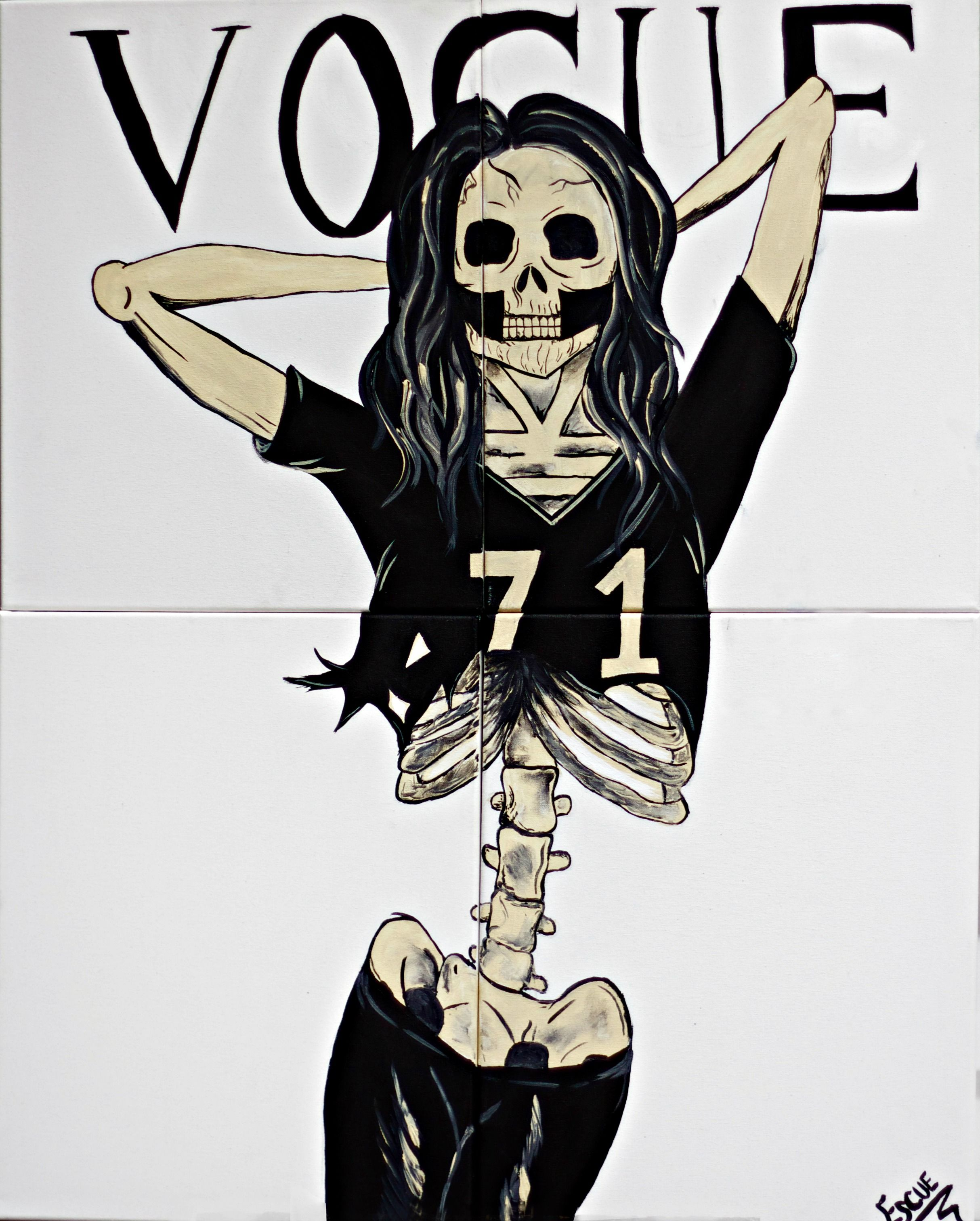 The true Vogue model. Artist: Kelsey Escue
