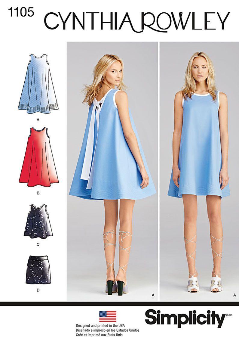 Simplicity Pattern: S1105 Dresses by Cynthia Rowley — jaycotts.co.uk ...