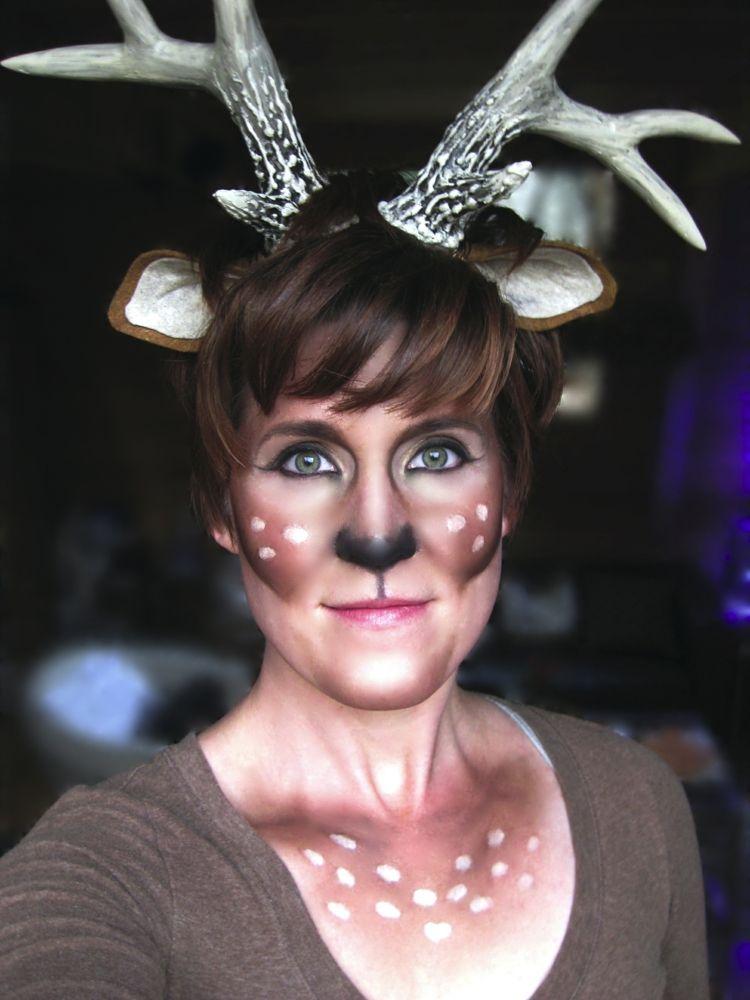 bambi kost m gesicht schminken geweih ohren carnival bambi party karneval pinterest. Black Bedroom Furniture Sets. Home Design Ideas