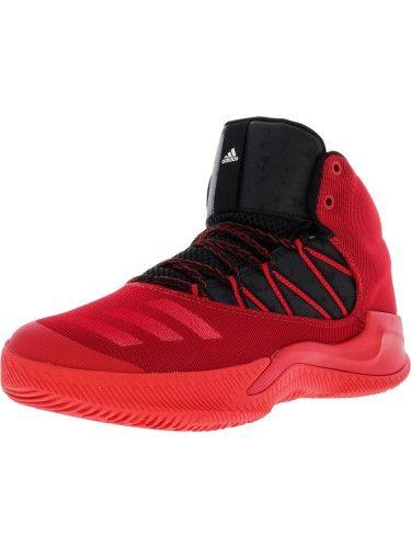 f4185e9d2a Adidas Men's Infiltrate Scarlet / Black White High-Top Basketball ...