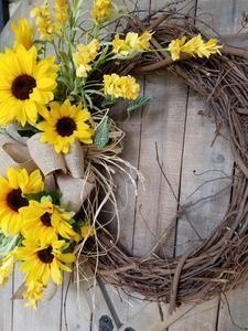 Photo of Gorgeous Fall  Sunflower Wreath  Gorgeous Fall  Sunflower Wreath Fall – Farmho…