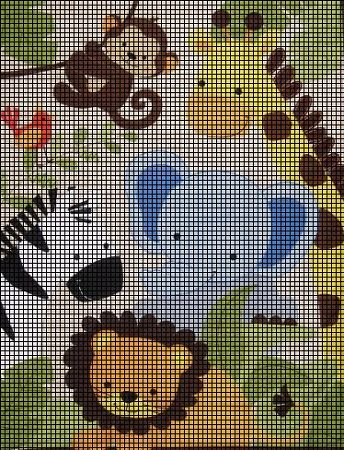 Baby Jungle Animals Crochet Pattern Cross Stitch Pinterest