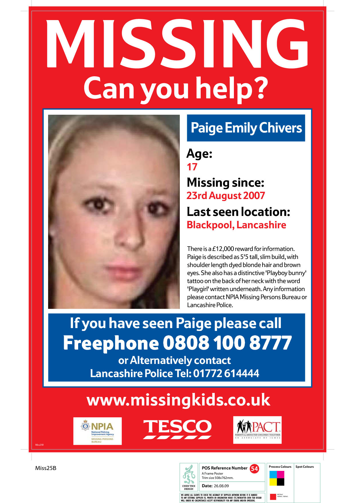 Missing Persons  Missing Person Flyer