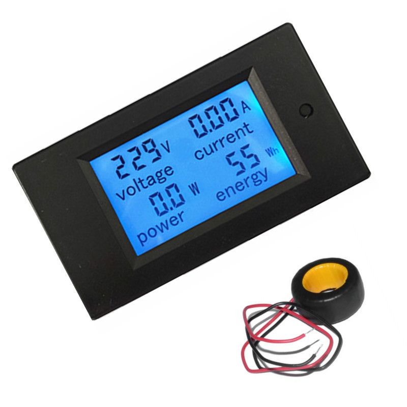Ac 80 260 V Font B Volt B Font Tension Medidor De Corriente Ac 0 100a 100a Digital Lcd Vatimetro Power Energy Amperimetro 110 Power Energy Digital Power