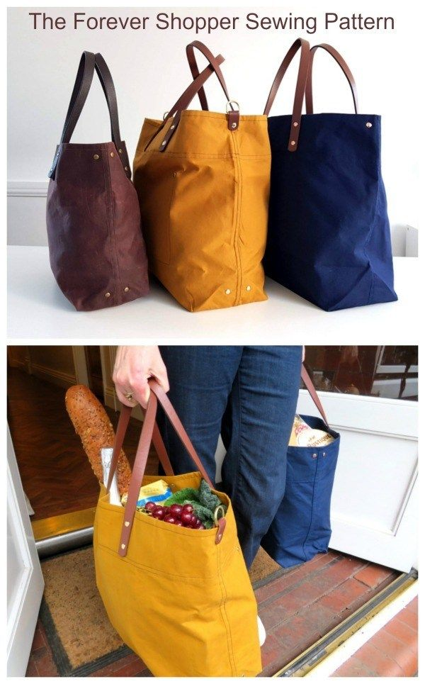 The Forever Shopper Bag pattern #bagsewingpatterns