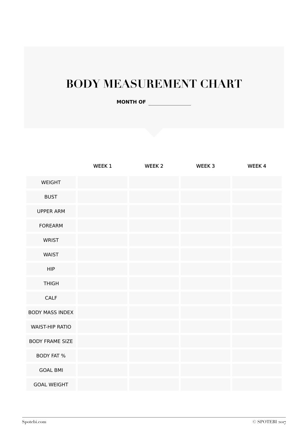 Ideal Body Weight Printable | Living A Better Healthy Lifestyle ...