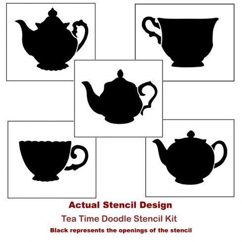 Coloring-pages-doodle-drawings-stencils-stencil-Teapot