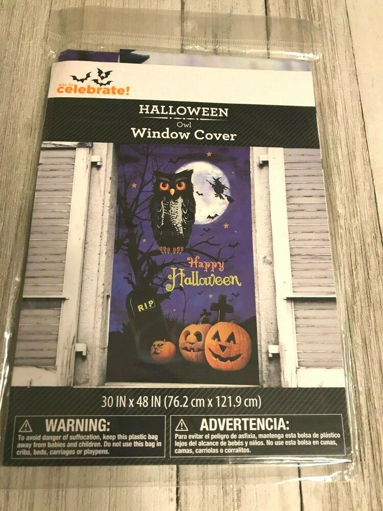 """Halloween Door Cover Creepy Clown 30/""""X72/"""" w"""