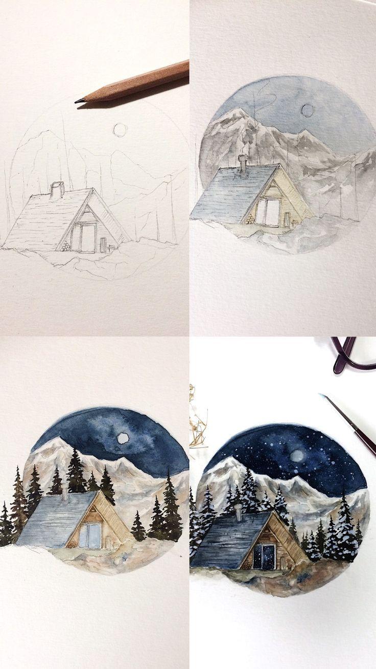 (Rosie Shriver.sketchbook) Verarbeiten Sie Fotos einer Aquarellmalerei. #watercolo ...  #aquarellmalerei #einer #fotos #paintingartideas #rosie #shriver #sketchbook #verarbeiten #sketchart