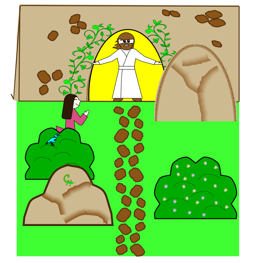 Childrens Easter craft of Jesus Resurrection.. 2nd grade gonna be ...