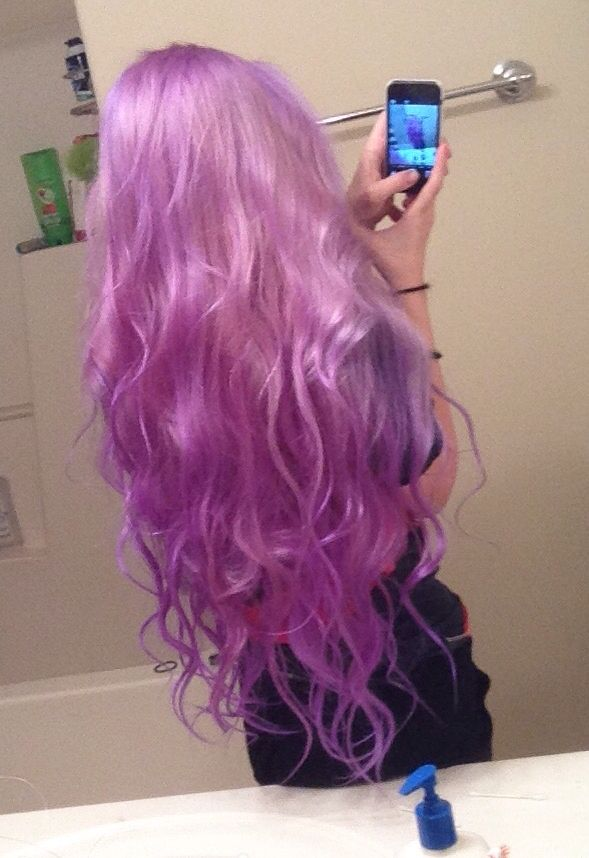 Manic Panic Ultra Violet Mixed With A Lot Of White Conditioner