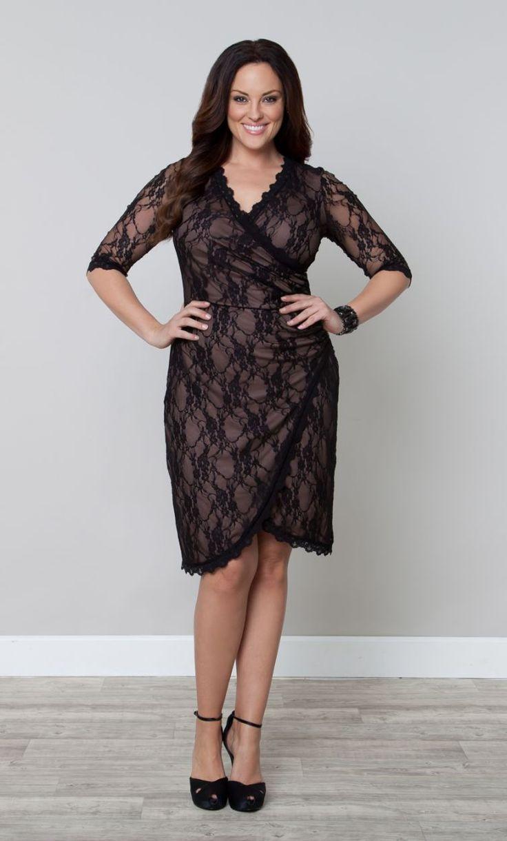 Cool new years eve dresses gigi lace faux wrap cinch cocktail dress
