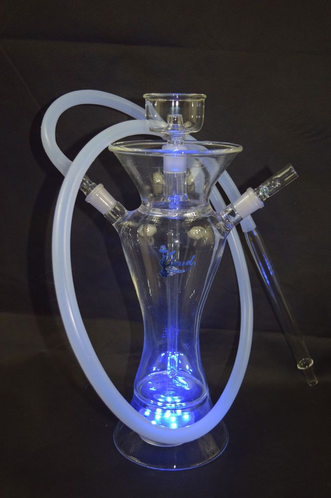 All Glass Hookah With Led 5mm Thick Excellent Quality Great