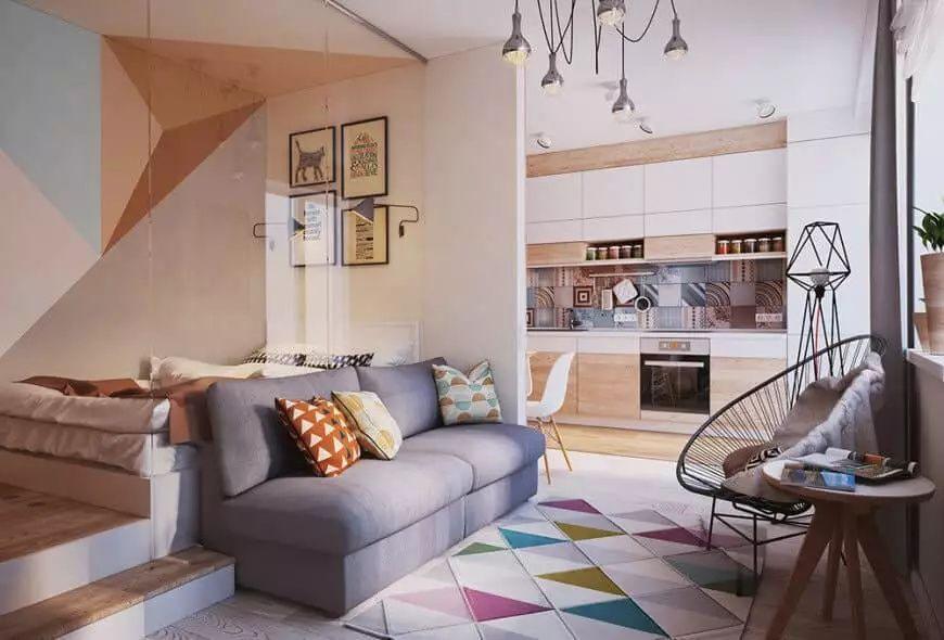 30 Multi Colored Living Room Ideas Photos Apartment Design Small Studio Apartment Design Home Decor Multi colored living room furniture