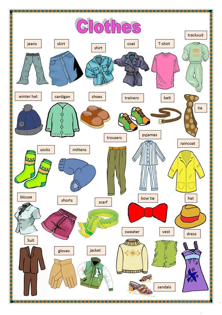 Clothes 2 worksheet Free ESL printable worksheets made