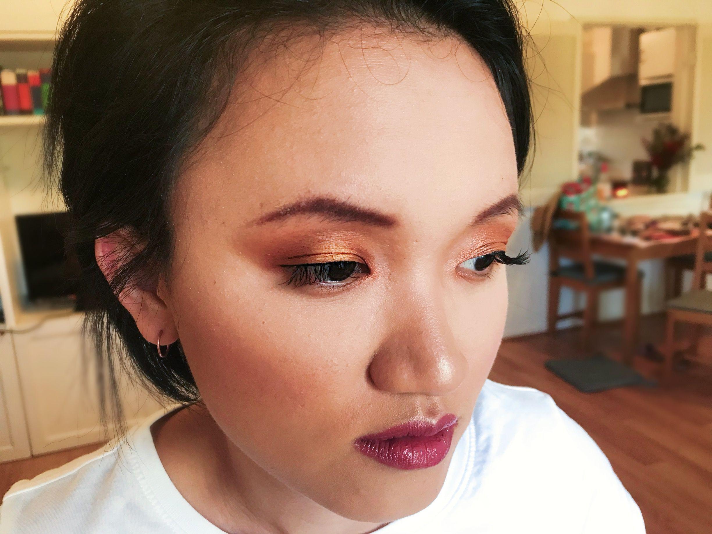 Gold halo eye for Trisha Alex grace makeup mobile