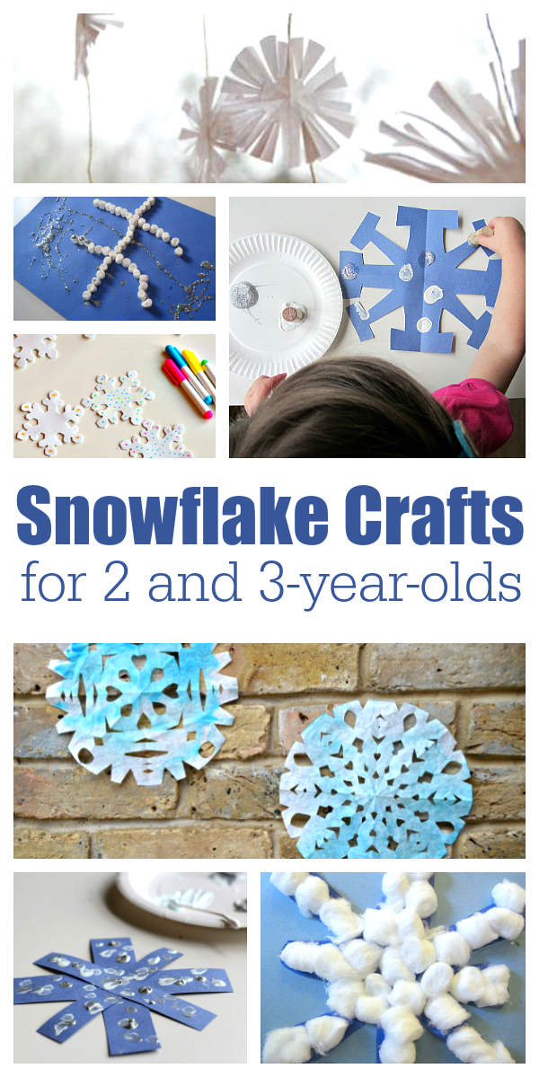 Snowflake Crafts For 2 And 3 Year Olds Winter Crafts For